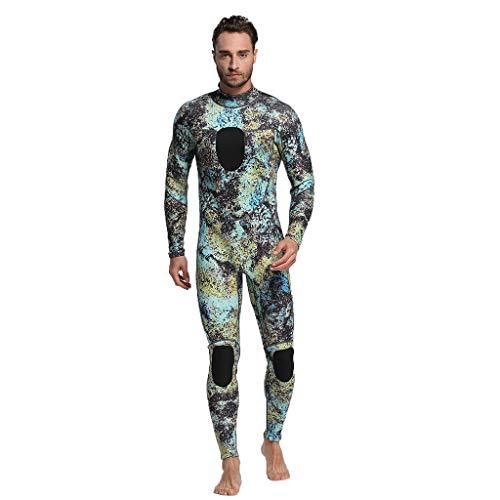 QIMANZI Taucheranzug Herren Wetsuit 3MM Ganzkörperanzug Super Stretch Tauchanzug Swim Surf Schnorcheln(Grün,3XL)