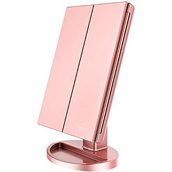 Deweisn Yrichen Tri Fold Lighted Vanity Mirror With 21 Led
