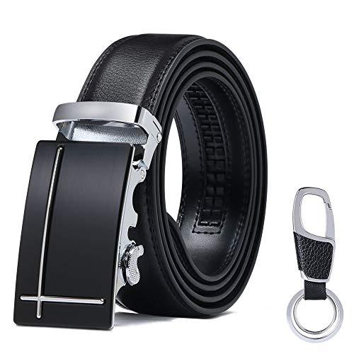 flintronic Cinturón Cuero Hombre, Cinturones Piel con Hebilla Automática (3.5cm * 130cm),...