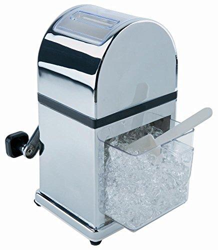 APS Eiszerkleinerer -Profi- ca. 16 x 13 cm, Höhe 27 cm Zinkdruckguss, glänzend mit robustem Mahlwerk kleiner Eisschaufel