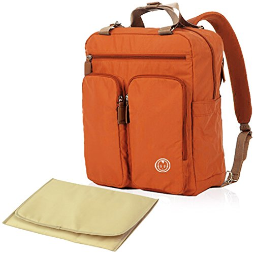 kf-baby-mas-travel-backpack-diaper-bag-orange-changing-pad-value-combo-set
