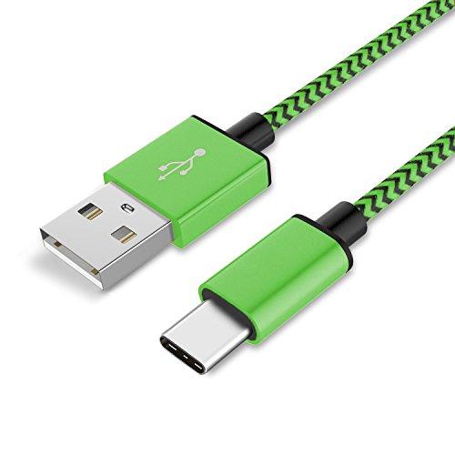 Preisvergleich Produktbild 1 x HTC U Ultra Datenkabel / Ladekabel / USB C Premium Kabel in Grün - 1 Meter - von THESMARTGUARD