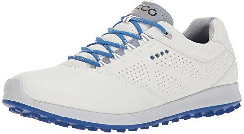 Ecco Herren Men's Golf Biom Hybrid 2 Golfschuhe, Weiß (White/Bermuda Blue), 45 - Hybrid Golf Ecco Biom