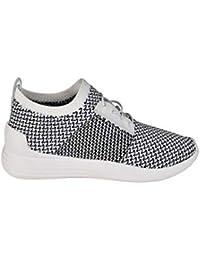 Kendall + Kylie Mujer BRANDY634WHMFB Blanco Negro Tela Zapatos e096e93362a