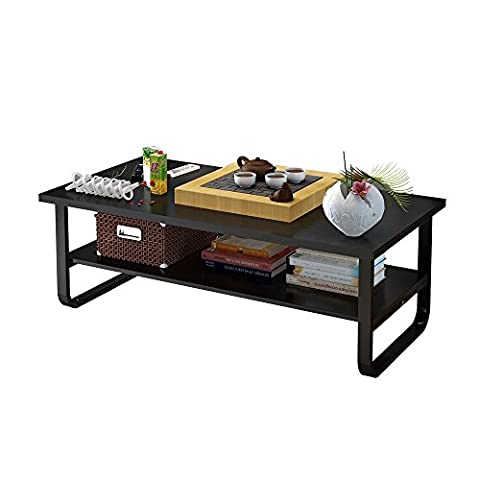 Soges Coffee Tables 100x60cm Rectangular Coffee Table with Shelf Storage