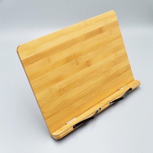 CHAOYANG Bambus Lesen Rest Cookbook Halter, Copybook Rahmen, Faltbare Bookrest Tablet Stand mit Verstellbaren Rücken, Tablet Computer Halterung, Buch Halter Stehen. (Größe : 33.8*23.7cm) (High Bücherregal)
