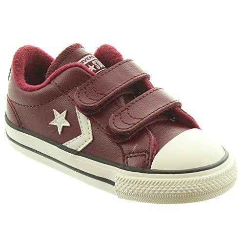 buy popular 97e77 c3af9 Converse Star Player 2V, Zapatillas de Deporte Unisex para Niños, (Dark  Burgundy