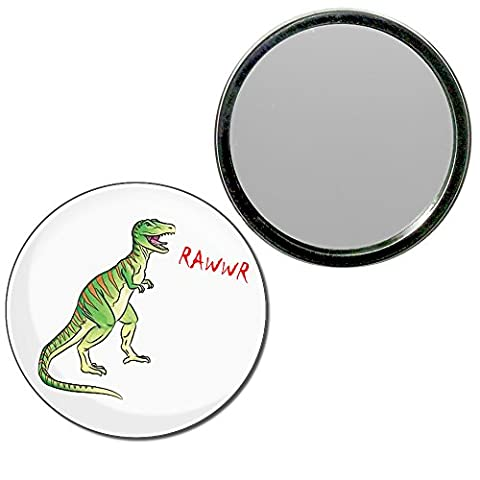 Dinosaur Rawwr! - 77mm ronde de miroir