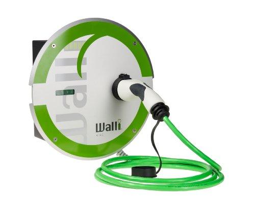 """11 kW Wallbox Wandladestation für Elektroauto """"WALLI""""® 4.16 C2 mit angeschlossener TYP 2-Ladekupplung u. 5 Meter Länge grün"""