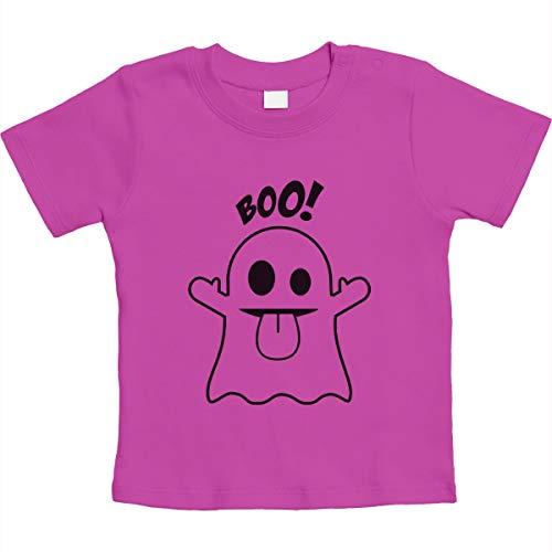 (Süßes Geister Motiv Boo! Unisex Baby T-Shirt Gr. 66-93 3-6 Monate / 66 Rosa)