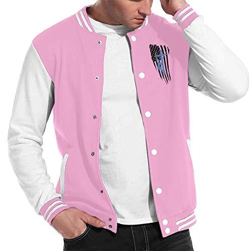 Patrick R Garrett Stilvolle Unisex Baseball uniform Jacke Sport Mantel amerikanische Flagge Lineman männer Frauen Erwachsene Sweatshirt Outwear Lined Hooded Full Zip Sweatshirt