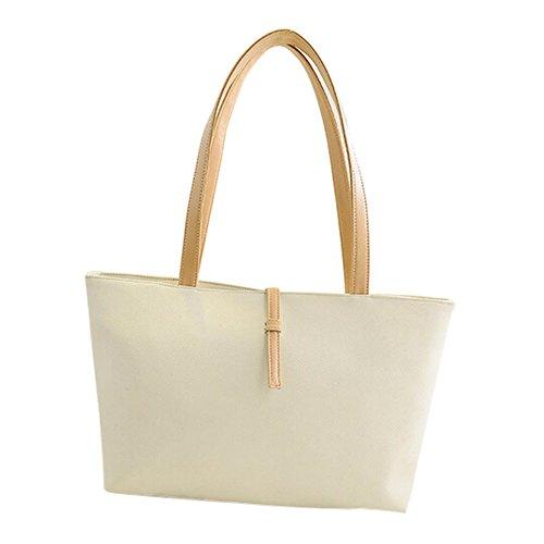 TOOGOO(R) Borse a tracolla di cuoio dell'unita' di elaborazione delle nuove borse di colore della caramella di disegno bambino-madre di relazione nero Bianco cremoso