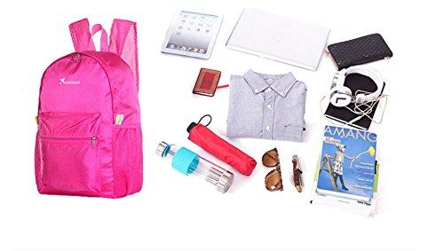Kotiger spalla escursioni e campeggio zaino ripiegabile unisex Outdoor Sports zaino pacchetto, Rosy Orange