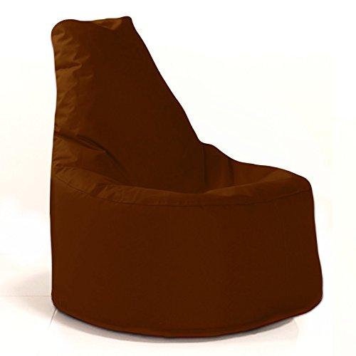 Sitzsack Sessel - für Kinder und Erwachsene - In & Outdoor Sitzsäcke Kissen Sofa Hocker Sitzkissen Bodenkissen mit Styropor Füllung - verschiedene Farben - Bean Bag Sitzsäcke Möbel Kissen (Braun)