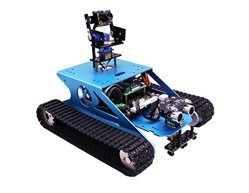 Yahboom G1 İntelligenter Robot Panzer aus Aluminiumlegierung Rover-Roboter für Raspberry Pi mit WiFi-Kamera (ohne Raspberry Pi 3B +) Wissenschaftlicher STEM für Kinder und Studenten
