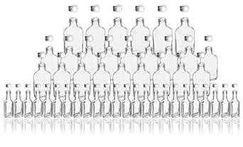 48 glasflaschen im set 6x 200ml 18x 100ml 24x 20ml. Black Bedroom Furniture Sets. Home Design Ideas