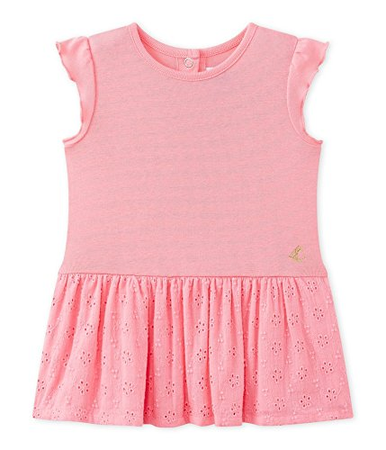 Petit Bateau Baby-Mädchen Robe MC 27824 Kleid, Rosa (Petal 59), 62 (Herstellergröße: 3m/60cm)