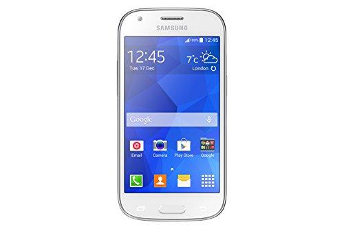 Samsung Galaxy Ace 4 Smartphone Micro-SIM (10,92 cm (4,3 Zoll) Super-AMOLED-Display, 5 Megapixel Kamera, Quad Core Prozessor, 1,2GHz, Android 4.4) weiß (Samsung Galaxy Ace Display)