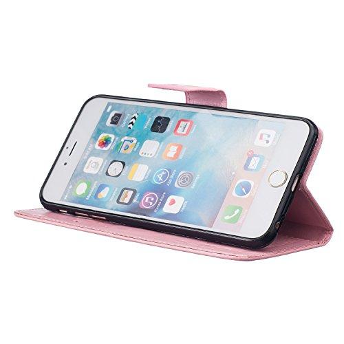 Sunroyal® iPhone 6 Plus (5.5) Bookstyle Étui Housse en PU Cuir Case à Rabat Portefeuille Swag pour Apple iPhone 6 Plus / iPhone 6s Plus (5.5 Pouces) Coque de Protection avec Stand Intérieur TPU Silico A-02