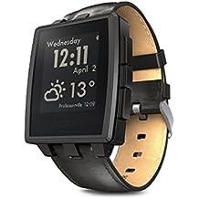 Pebble reloj inteligente de acero para dispositivos Iphone y Android - Negro mate (Certified Refurbished)