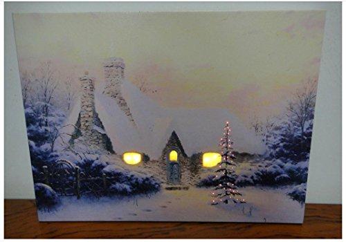 XYXY Pittura con la pittura di decorazione del paesaggio LED luce sorpresa illuminata giorno di Natale . 40*50