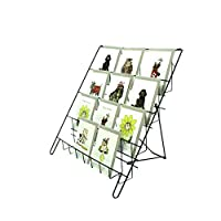 Small 4 Tier Counter DVD Greeting Card Booklet Stand Rack in Black Shop Display (E8B)