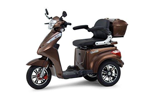 Scooter, Senior, Trottinette électrique, fauteuil roulant électrique Tricycle, econelo® Mobile, marron