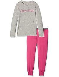 Calvin Klein LS Knit PJ Set, Pijama para Niñas