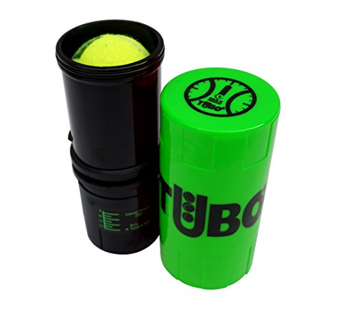 TUBOPLUS–Barattolo presurizador palline da Padel/Tennis, Verde Fluor