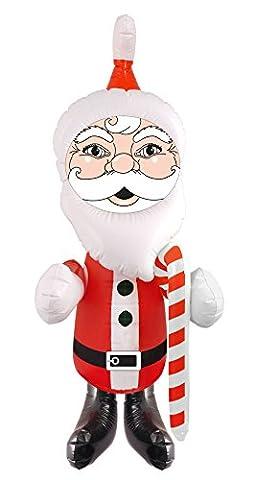 German Trendseller® - Weihnachtsmann Aufblasbar ┃ Weihnachten ┃ Dekoration ┃ Santa Claus ┃