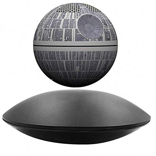 San qing Star Wars-Todesstern-Magnetschwebeton, Star Wars-Bluetooth-Lautsprecher-kreativer Geschenk-Ton,Gray (Stars Geschenke Wars)