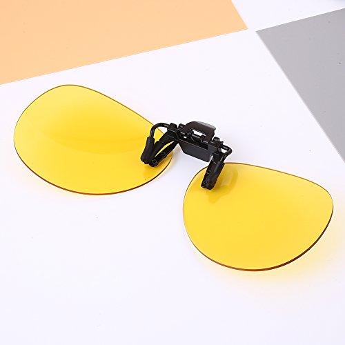 Hongfei Gelb Nacht Vison Myopie Mode Sonnenbrillen Unisex Brillenclip Geschützte polarisierte Linsen für Mann Frau