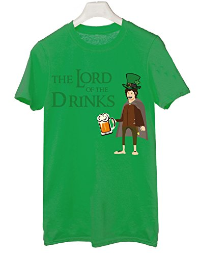 t-shirt humor San Patrick's day The lord of the drinks drink beer, irish, elf - tutte le taglie uomo donna maglietta by tshirteria verde