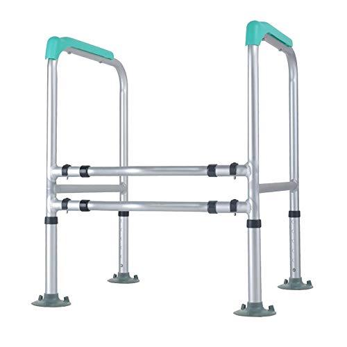 XIHAA Toiletten-Sicherheitsschienen, Sicherheitsrahmen Für Toilette mit Einfacher Installation, Höhenverstellbar, Badezimmer-Sicherheit