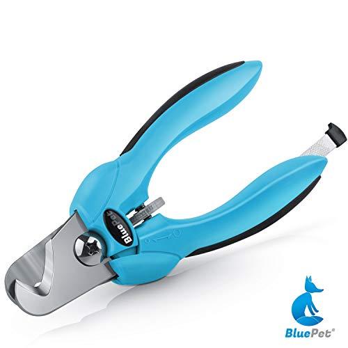 Bluepet *KrallenSchön Krallenschere Nagelschere für Hunde & Katzen zur Krallenpflege | Krallenzange mit Größenwahlrad und Nagelpfeile (Blau)