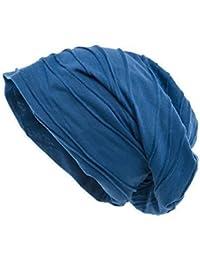 Shenky blaue lange Jersey Beanie Mütze in dicker Qualität