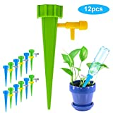 Faviye - Juego de 12 riego por Goteo automático, Sistema de riego para jardín