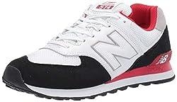 New Balance Herren 574v2 Sneaker, Schwarz (Black/Red Black/Red), 42 EU