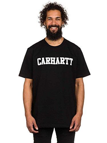 Carhartt Herren T-Shirt S/S College Nero (Black/White)