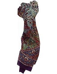 Foulard Gamme Traditional de Soie Motif Sarika Violet de Pashmina & Silk