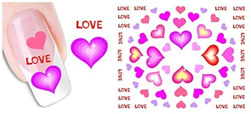 nicedeco-trasferelli-e-autoaderenti-adesivi-decorazioni-per-unghie-diy-nail-arte-cuore-rosa-love