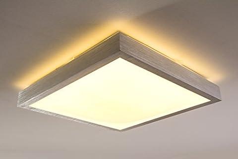 Quadratische LED Leuchte für Badezimmer – Küche – Flur – Esszimmer – Eckige Badleuchte im modernen Design mit 3000 Kelvin – Energiespar-Lampe mit 24 Watt