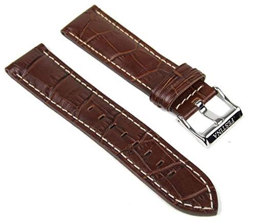 Festina Ersatzband Uhrenarmband Leder Band Braun 22mm F16282/7 F16282/