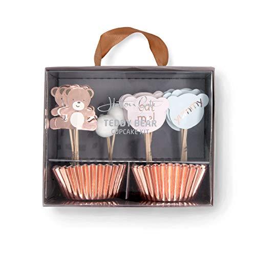 Hatton Gate Teddy Bear Cupcake Kit 48 Cupcake Koffer mit 24 Verschiedenen Picks pro Packung