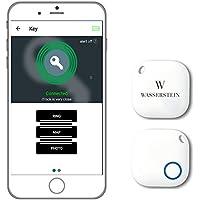 Bluetooth Schlüssel Finder, GPS Smartphone Key Finder Tracker mit Bluetooth , Smarter Alarm und Schlüsselfinder, Kamera Fernbedienung für iOS & Android Geräte von Wasserstein