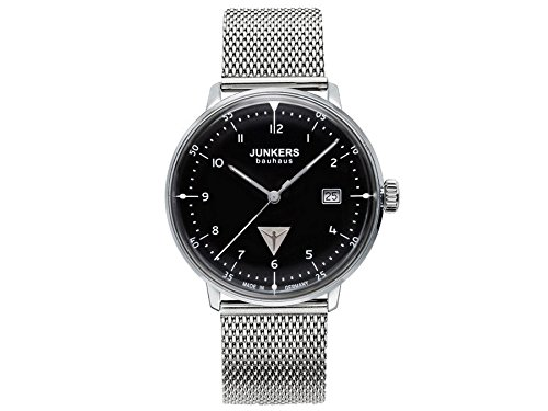 Junkers Men's Quartz Watch with Black Dial Analogue Display Quartz Stainless Steel 6046M2