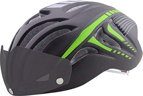 Y-YT Fahrradhelm Fahrradhelm mit Schutzbrille Mountain Fahrzeugsicherheit atmungsaktiv Ultra leichten Schutz Helm 56-61cm