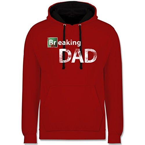 Vatertag - Breaking Dad - Kontrast Hoodie Rot/Schwarz