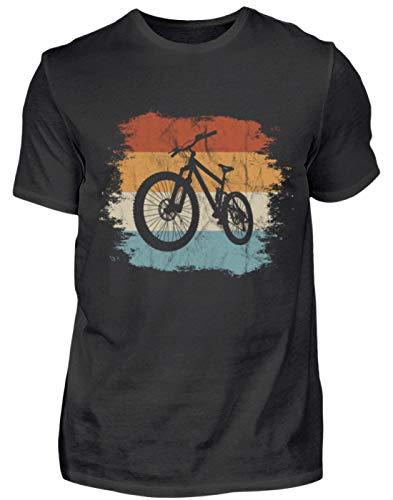 MTB - Cooles Mountainbike mit Grunge-Effekt für Biking Fahrrad Fans - Herren Shirt -XXL-Schwarz ()