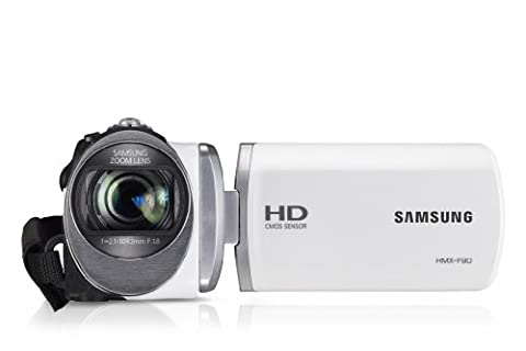 Samsung HMX-F90 HD-Camcorder (52-fach opt. Zoom, 6,9 cm (2,7 Zoll) LCD-Display, HD-Ready) weiß